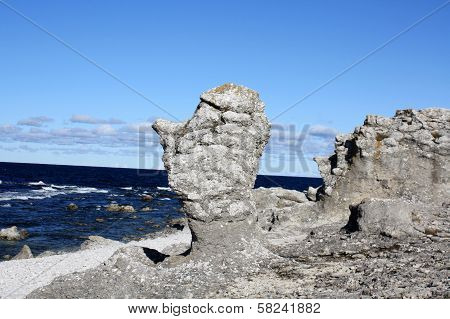 Old eroded cliff at Gotland