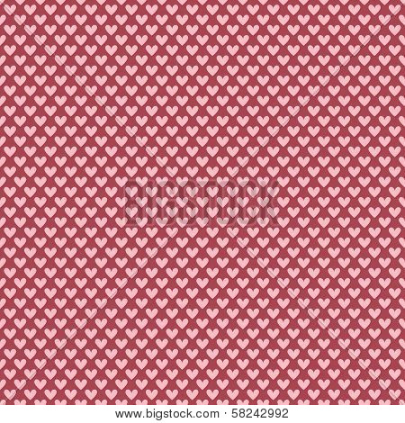 Heart shape vector seamless pattern (tiling)