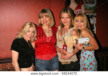 Riley Weston and Rena Riffel with Olja Hrustic and Lorielle New at the DVD Release Party for