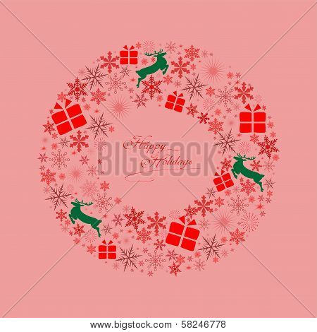 Christmas-Wreath Icons-Red