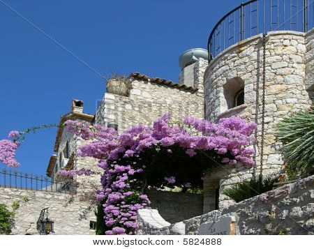 Eze House And Flowers