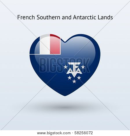 Love French Southern and Antarctic Lands symbol.