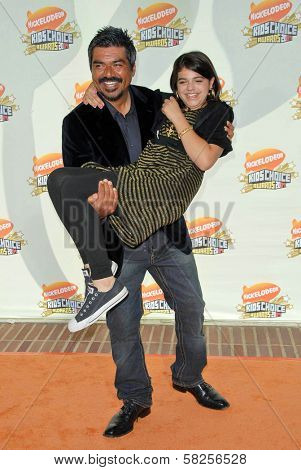 George Lopez and daughter Pedra at Nickelodeon's 20th Annual Kids' Choice Awards. Pauley Pavillion, Westwood, CA. 03-31-07