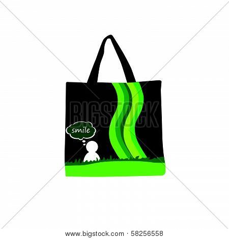 Woman Purse Green Vector