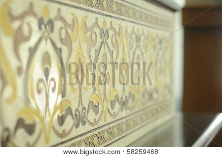Mimbar's Wall Tiles Detail for As Salam Mosque