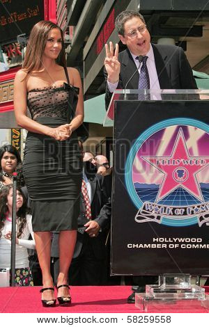 Halle Berry and Tom Rothman at the ceremony honoring Halle Berry with the 2,333rd star on the Hollywood Walk of Fame. Hollywood Boulevard, Hollywood, CA. 04-03-07