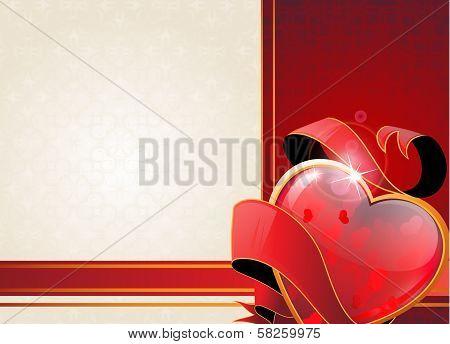 Valentine Heart And Ribbon