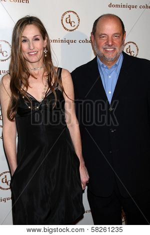 Dominique Cohen and her husband Eric at the grand opening of the Dominique Cohen Flagship Jewelry Store. 501 N. Robertson Blvd., Los Angeles, CA. 04-05-07