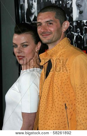 Debi Mazar and husband Gabriele at the premiere of