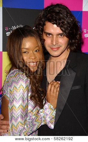 Golden Brooks and Markus Molinari at the launch of T-Mobile Sidekick ID, T-Mobile Sidekick Lot, Hollywood, CA. 04-13-07