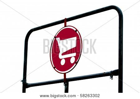 Grocery Cart Sign On Rack