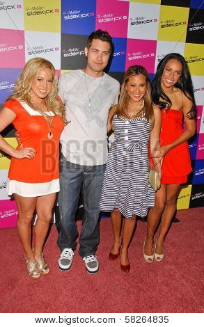 Drew Seeley and the Cheetah Girls at the launch of T-Mobile Sidekick ID, T-Mobile Sidekick Lot, Hollywood, CA. 04-13-07
