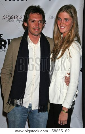 Lukas Haas and friend at the Los Angeles Premiere of