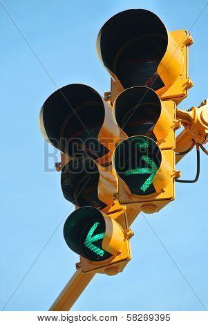 Go Both Ways On The Traffic Light