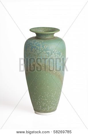 Green And Teal Vase Isolated On White