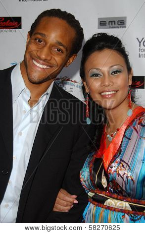 Michael Cory Davis and Cassandra Hepburn at a Fashion and Music Extravaganza Promoting Human Rights for Youth. Church of Scientology Celebrity Centre Pavilion, Los Angeles, CA. 04-14-07