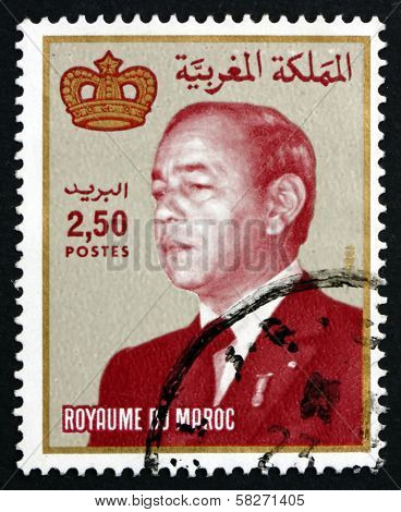 Postage Stamp Morocco 1987 Hassan Ii, King Of Morocco