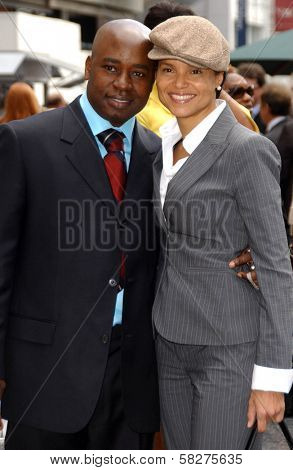 Victoria Rowell and friend at the ceremony honoring Forest Whitaker with the 2,335th Star on the Hollywood Walk of Fame. Hollywood Boulevard, Hollywood, CA. 04-16-07