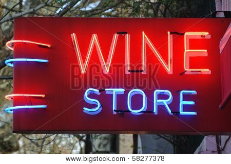 Wine Store Sign