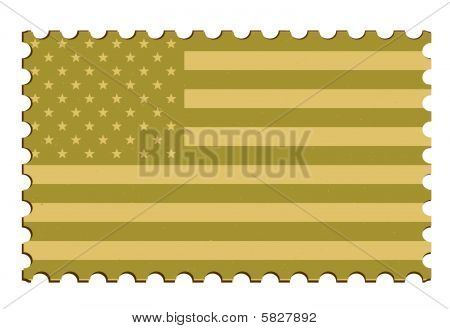 US Flag Vector Stamp