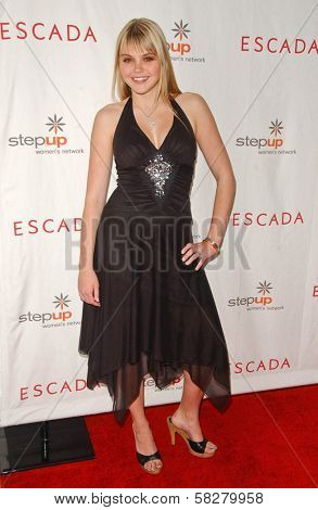Aimee Teegarden at an Escada 2007 Fall Winter Sneak Preview to Benefit Step Up Women's Network. Beverly Hills Hotel, Beverly Hills, CA. 04-19-07