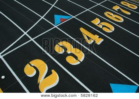 Track and Field Numbers on path