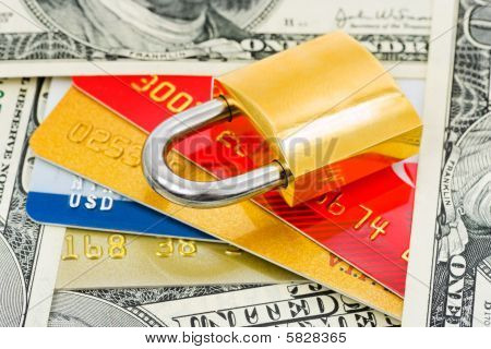 Credit Cards, Money And Lock
