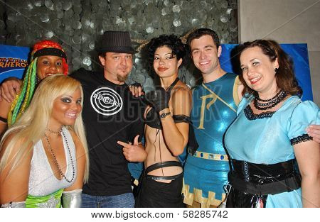 L-R Braid, Ms. Limelight, The RIngers, Basura, Parthenon, and Hygena at the