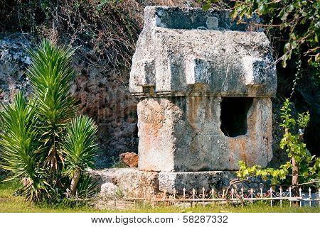 Lycian Tombs In Fethiye