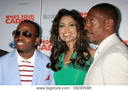 Big Boi with Tracey Edmonds and Eddie Murphy at the Los Angeles premiere of