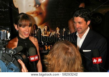 Hilary Swank and Patrick Dempsey at the Los Angeles Premiere of