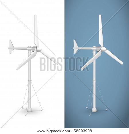 Eco wind turbine isolated