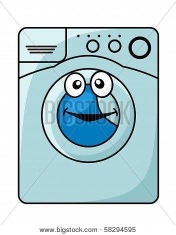 Washing machine cartoon illustration