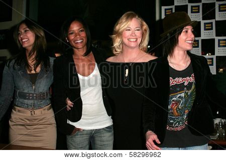 Janina Gavankar and Rose Rollins with Cybill Shepherd and Katherine Moennig at the 4th season kick-off party for