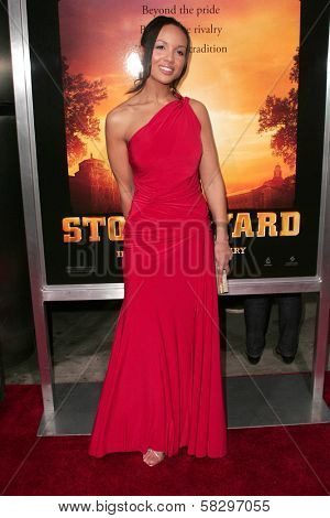 April Clark at the world premiere of