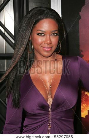 Kenya Moore at the world premiere of