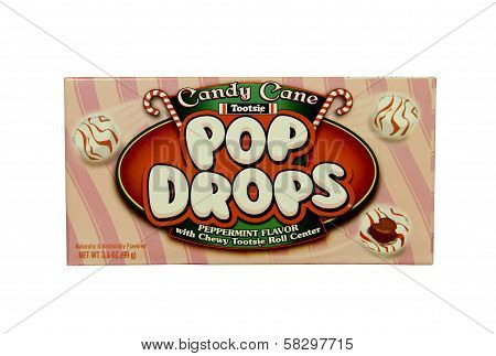 Box Of Candy Cane Pop Drops