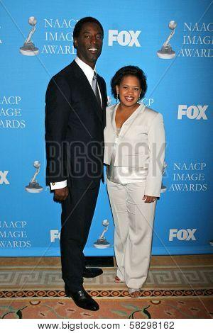 Isaiah Washington and Chandra Wilson at the Press Conference for the 38th NAACP Image Awards. The Peninsula Hotel, Santa Monica, CA. 01-09-07