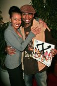 Denyce Lawton and Dante Bosco at the Top X Calendar Release Pre-Oscar Party hosted by Denyce Lawton