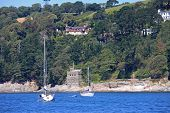 image of dartmouth  - Kingswear castle by the River Dart - JPG