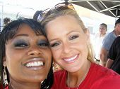 Qiana Chase and Katie Lohmann at the Inaugural XM Satellite Radio Speedjam, Homestead-Miami Speedway