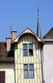 stock photo of tenement  - tenement house in the old city of Troyes France - JPG