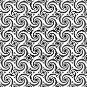 picture of helix  - monochrome decorative helix pattern - JPG