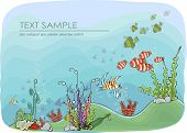Sea life background, Travel concept illustration