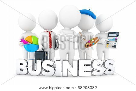 3d white people business and jobs