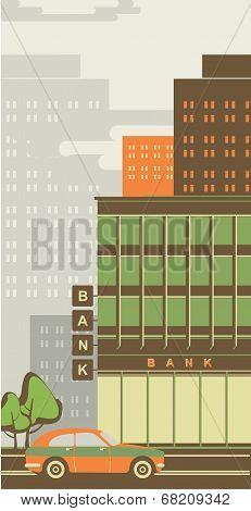Cityscape Bank Building