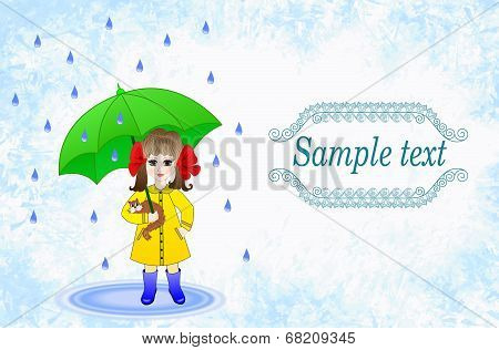 Label Design For Children's Umbrellas