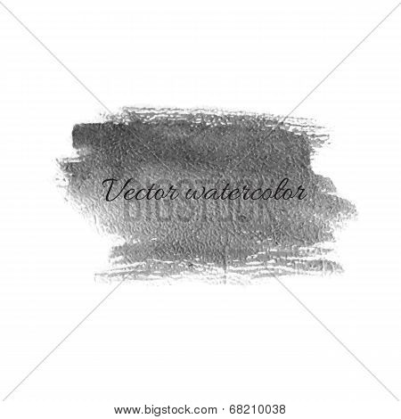 Watercolor Billet Isolated Vector Design Element.