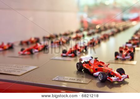 Modena, Italy - July 09: Many Models Of Sport Cat Formula 1  Exhibition Of Ferrari Cars On July 09,