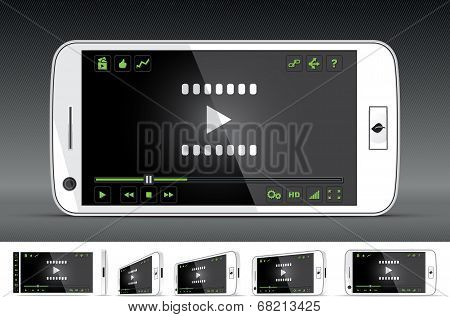 White Smart Phone Video Player